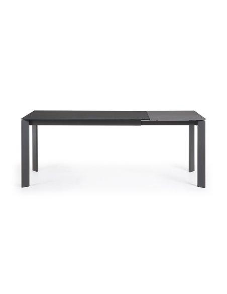 Стол Atta 140 (200) x90 темно-серый, стекло