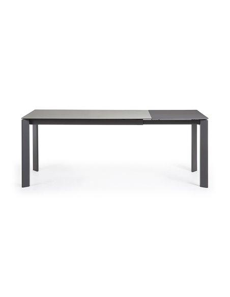 Стол Atta 140 (200) x90 антрацит, серый, керамика