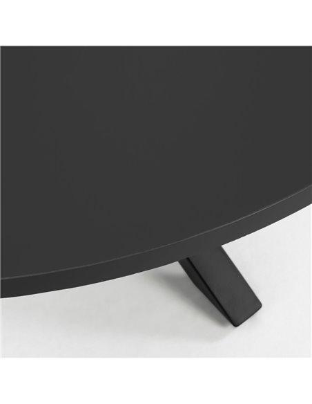 ARYA Круглый Ø 119 cm MDF стол со стальными черными ножками