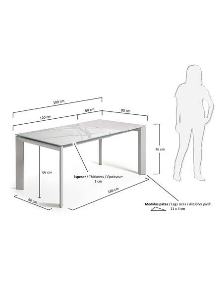 Обеденный серый стол Atta керамика