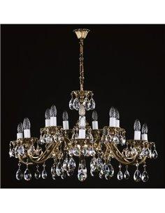 Люстра ArtGlass VIKTORIE XVI. brass antique