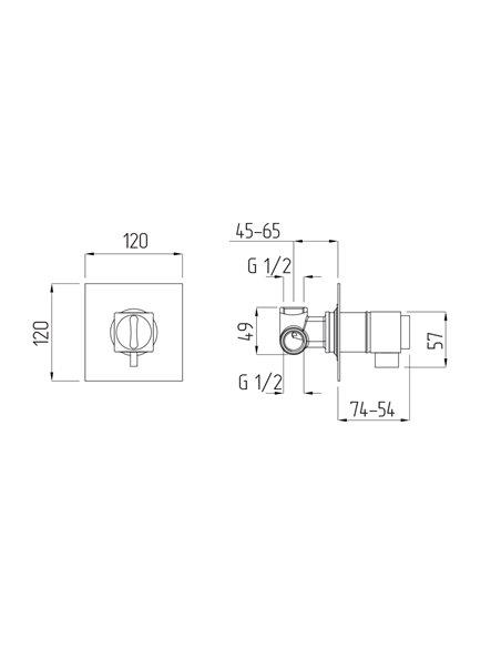 25403 Смеситель Migliore KVANT (Хром)