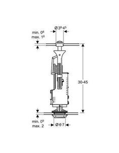 Механизм смыва CERAMICA ALA Oliveira MO4C, кнопка хром