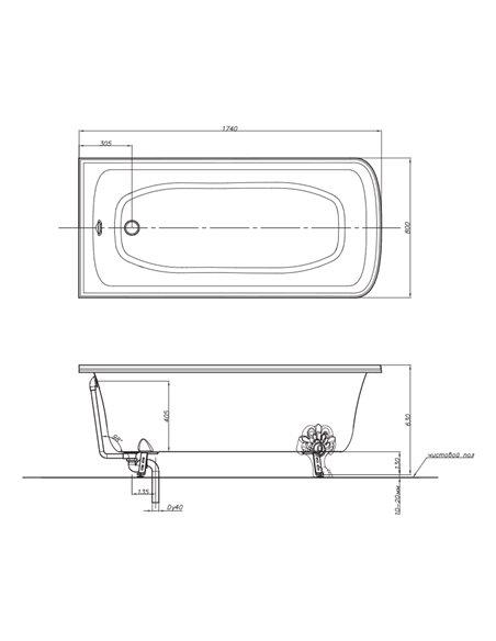 25501 Ванна Migliore (Хром)