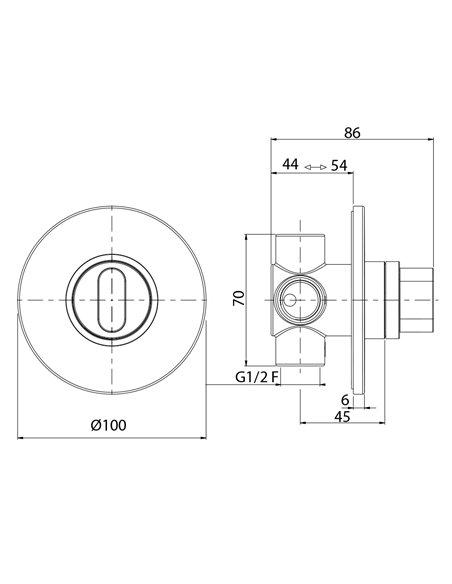 26088 Девиатор Migliore FORTIS (Хром)