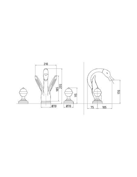 Смеситель Migliore LUXOR для раковины (23085)
