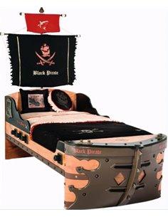 Кровать-корабль Cilek Pirate Black
