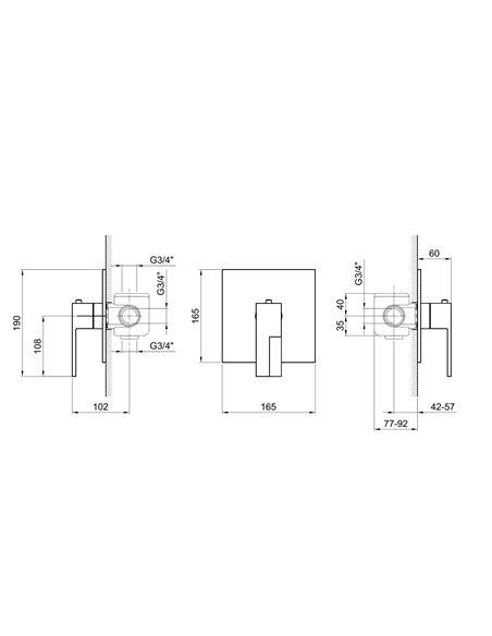 3900SB+3900A Смеситель FANTINI AR/38