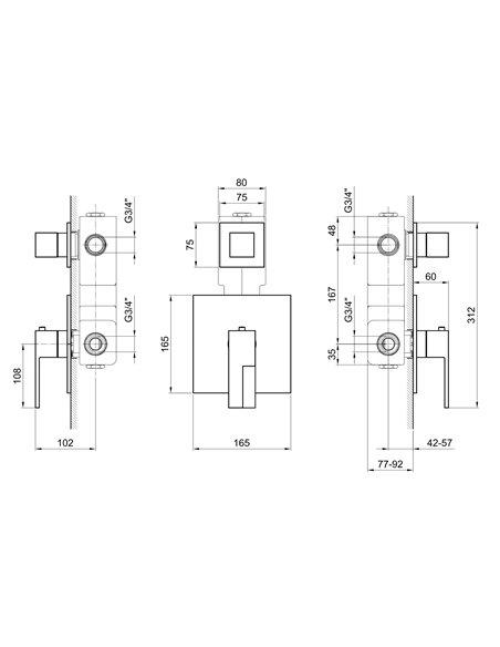3901SB+3901A Смеситель FANTINI AR/38
