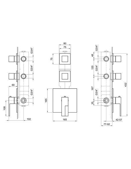 3902SB+3902A Смеситель FANTINI AR/38