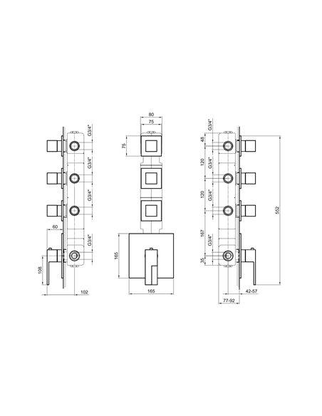 3903SB+3903A Смеситель FANTINI AR/38